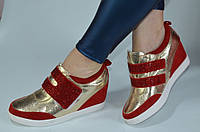 Модные женские ботинки сникерсы Натуральная кожа Размеры 35 36