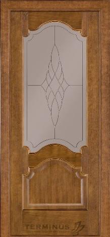 Модель 08/Стекло №1 сатин бронза/Дуб темный