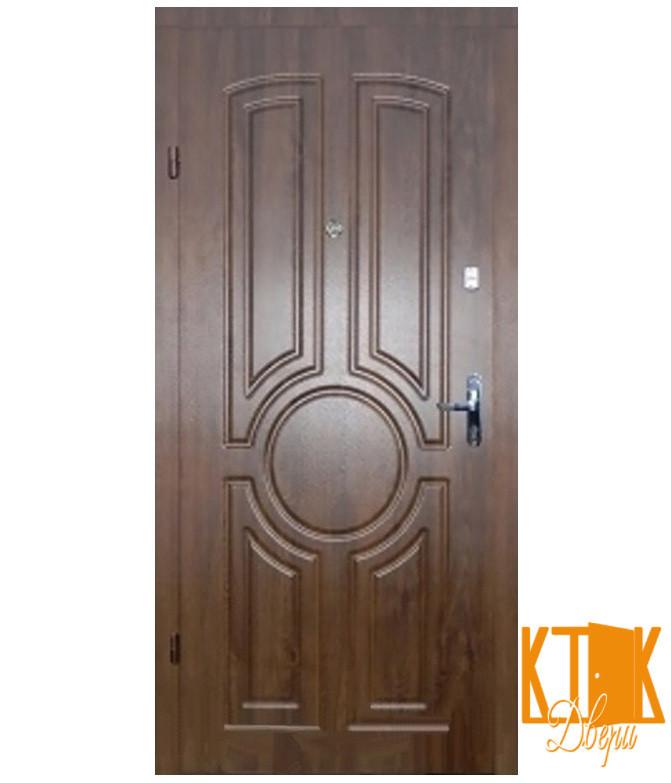"""Входные двери в квартиру Тектон серии """"Эконом"""" (орех лесной)"""