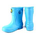 Голубые детские резиновые сапоги из пены, размер 32/33 стелька 20,5 см, девочке или мальчику, фото 2