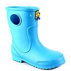Голубые детские резиновые сапоги из пены, размер 32/33 стелька 20,5 см, девочке или мальчику, фото 4