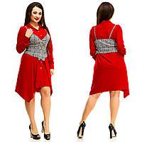 Платье женское большие размеры (цвета) АНД5051, фото 1