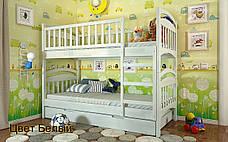 ✅Двухъярусная деревянная кровать Смайл 80х190 см ТМ Arbor Drev, фото 2