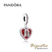 Pandora Шарм-подвеска ДВОЙНОЕ СЧАСТЬЕ #796590EN151 серебро 925 Пандора оригинал