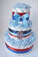 """Торт з памперсів для хлопчика """"Море"""" 80 шт., фото 1"""