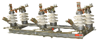 Разъединитель трехполюсный РЛНД-10/400 У1 с полимерной изоляцией