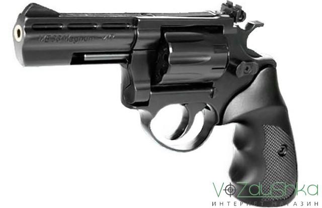 револьвер me-38 magnum 4r (черный пластик)
