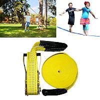 50ftSlacklinesНаоткрытомвоздухеExtreme Sport Balance Trainer Slackline Веревка Sling для детей и взрослых