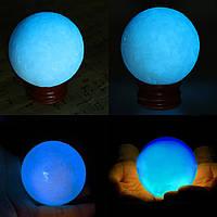 50мм Синее свечение в темном камне Светящаяся жемчужина Кварцевая кристаллическая сфера Бал Ночной жемчуг