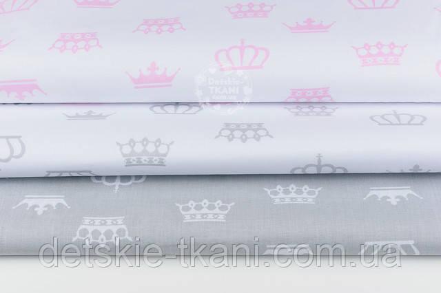 Бязь ткань с коронами разной формы