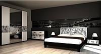 Спальня комплект з ДСП/МДФ 6Д (без матрасу та каркаса) Бася Нова нейла глянець Світ Меблів