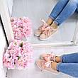 """(ТОЛЬКО 38р) Кроссовки, кеды, мокасины женские пудра """"Laces"""" эко кожа, спортивная, летняя, повседневная обувь, фото 5"""