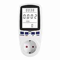 EU/UK/US Штепсель LCD Дисплей Электрический Монитор Анализатор мощности Счетчик энергии Smart Wall Разъем