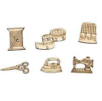 Пуговицы деревянные Швейные принадлежности,  (5 шт)