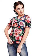 Женская велюровая кофта с коротким рукавом, в расцветках