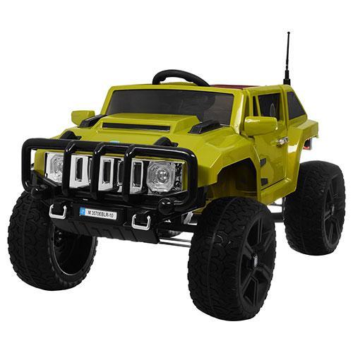 Детский электромобиль Hummer M 3570 EBLR-10: 12V 10A, 70W, 7 км/ч, EVA - ЗЕЛЕНЫЙ - купить оптом