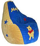 Безкаркасне Крісло мішок груша пуф для дітей ВІННІ ПУХ, фото 2