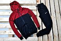 Мужской спортивный костюм Nike с капюшоном комбинированного цвета