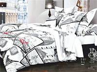 Двуспальный комплект постельного белья. Простынь на резинке. Бязь