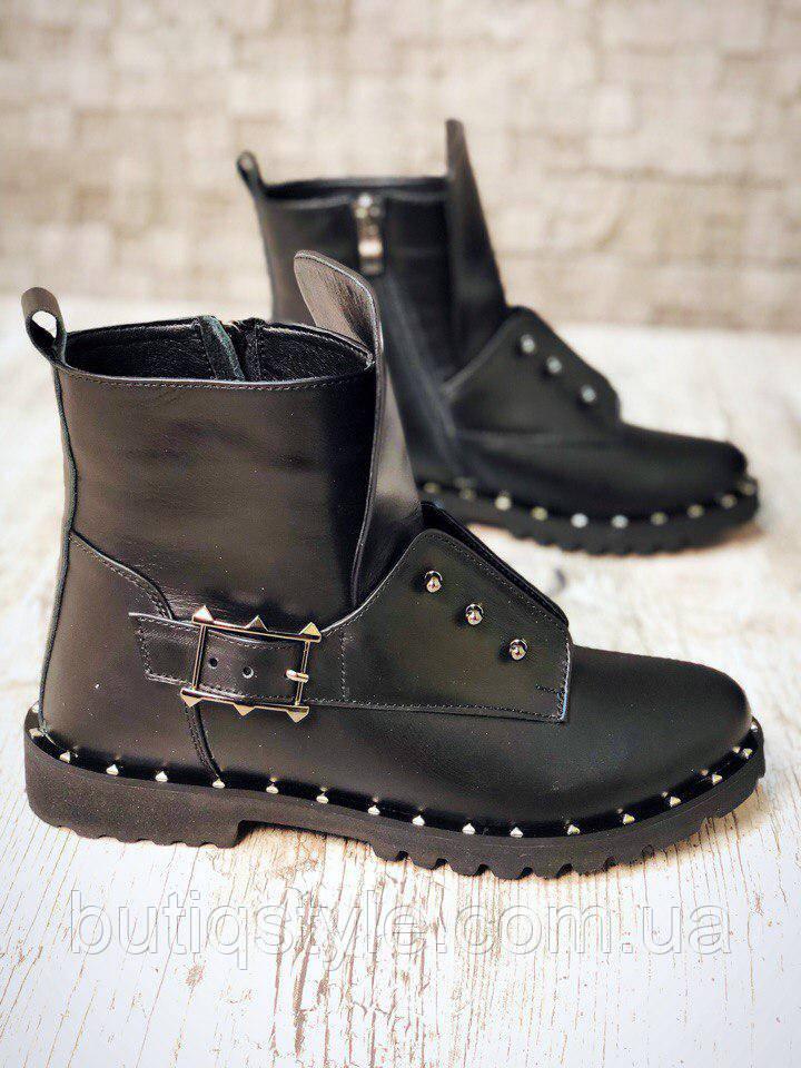 40 размер! Ботинки демисезонные Dred Herm@s из натуральной кожи