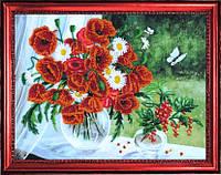 Набор для вышивки бисером Маки и смородина (по картине О. Воробьевой) №277