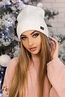 Женская шапка-колпак «Адриана» Белый