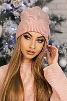 Женская шапка-колпак «Адриана» Пудра