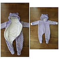 Человечек для новорожденных — сиреневый с пупырышкой