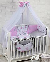 Комплект постельного белья Asik Воздушные шары розового цвета 8 предметов (8-270)