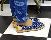 Женские мокасины Chanel синие , копия