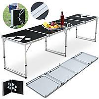 8FTПортативныйалюминиевыйпингPingPong Table На открытом воздухе Складной стол для игры в паркет