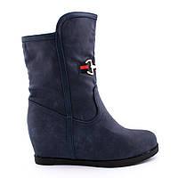 Сапоги женские осенние E359-11 Blue,женская обувь