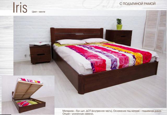 Кровать полуторная Айрис с подъемным механизмом (описание)