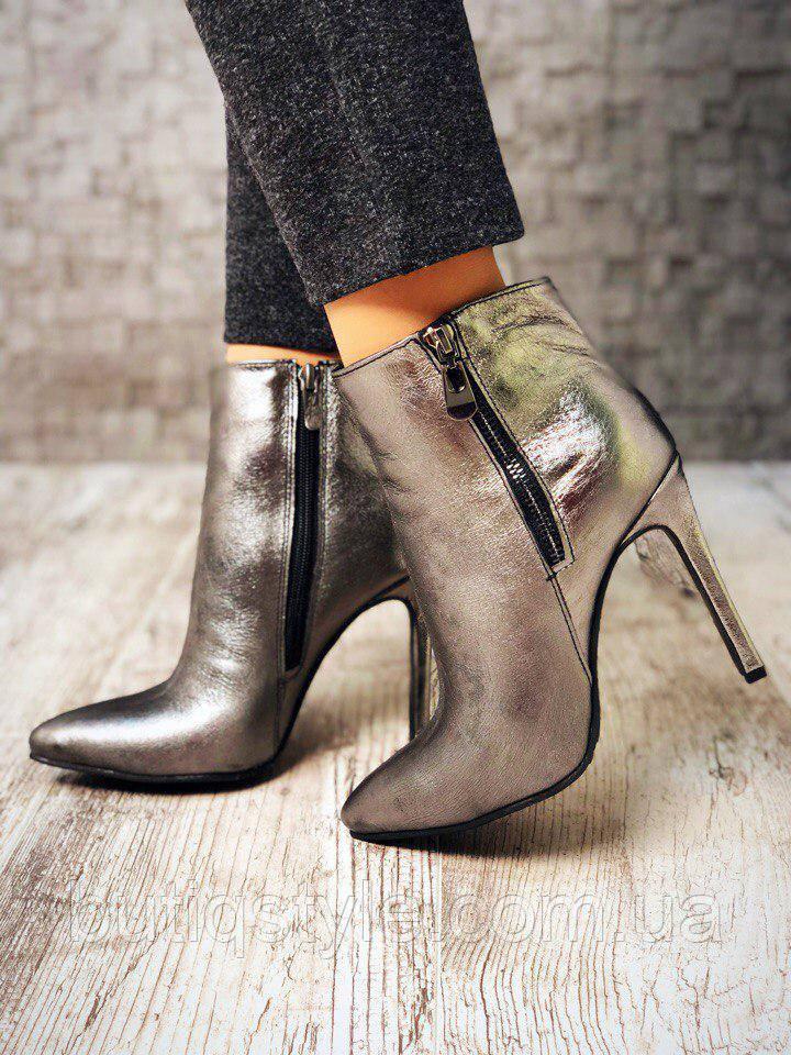 38 размер! Классические ботиночки Elite на каблуке никель