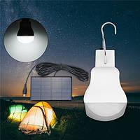 Портативный Солнечная Powered Светодиодный Bulb На открытом воздухе Аварийная палатка Кемпинг Лампа для Рыбалка Пеший туризм