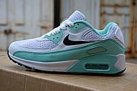 Женские кроссовки nike air max 90 зеленые, копия