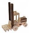 Деревянная машинка автопогрузчик goki 55901, фото 2