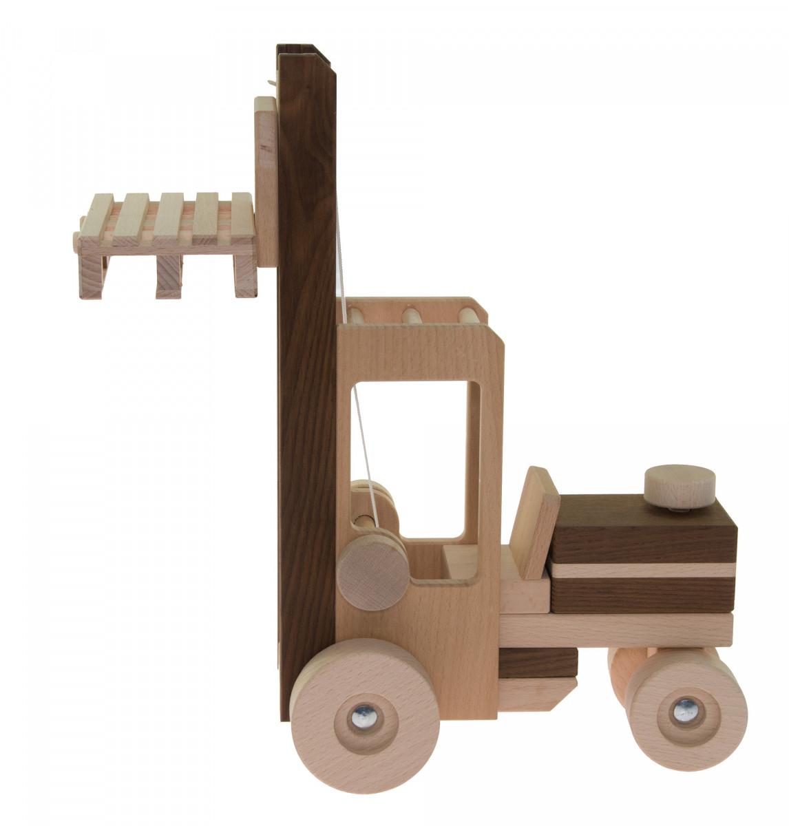 Деревянная машинка автопогрузчик goki 55901