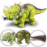ЭлектрическийходячийдинозаврМодельтрицератопас яркими звуковыми игрушками для детей Детский подарок