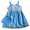 Платье для девочки + сланцы; 3 года
