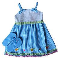 Платье для девочки + сланцы; 3 года, фото 1