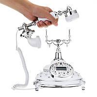 Винтаж Античный ретро телефон Старомодный ротационный телефонная трубка Офисное оборудование Домашний декор