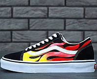 Кеды Vans Old Skool Flames Оригинал, (унисекс), vans old school, ванс олд скул, кеды венс