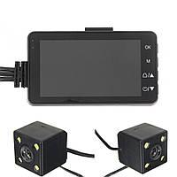 3inch HD 720P Видеорегистратор Видеокамера Dual Cam Action камера мотоцикл Видеомагнитофон