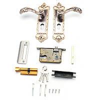 Механический Внутренняя дверная ручка Цилиндр Замок Рычаг Защелка Домашний комплект безопасности