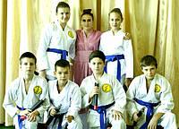 Показательное выступление школы карате для детей в Днепропетровске