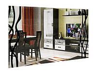 Дзеркало на стіну з ДСП/МДФ у вітальню спальню Терра 1000х800 білий Миро-Марк