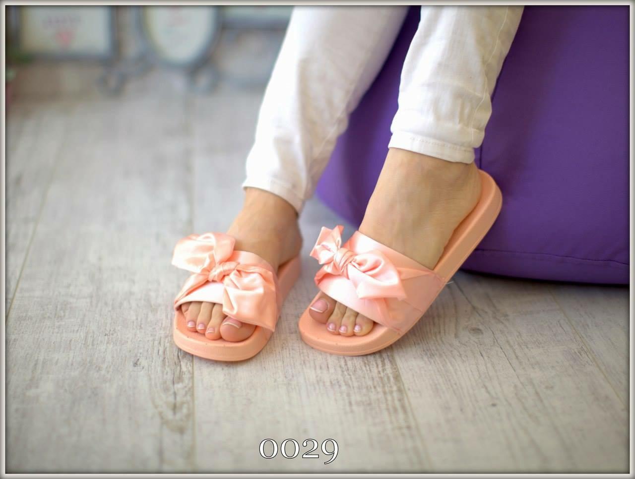 Шлепки атласный бант розоовые Puma Fenty - IQueen - интернет-магазин  женской обуви в Ужгороде 7eefa0de9df