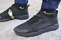 Мужские кроссовки Nike air Huarache черные, копия