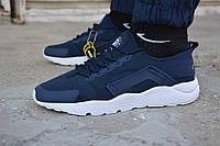Мужские кроссовки Nike air Huarache синие, копия
